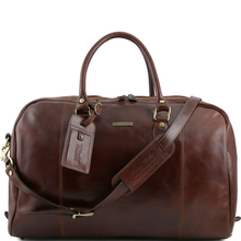 Geanta de voiaj din piele naturala maro, Tuscany Leather, TL Voyager