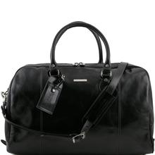 Geanta voiaj din piele naturala neagra, Tuscany Leather, TL Voyager