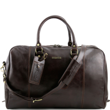 Geanta de voiaj din piele naturala maro inchis, Tuscany Leather, TL Voyager