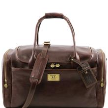 Geanta voiaj din piele naturala maro inchis, Tuscany Leather, TL Voyager