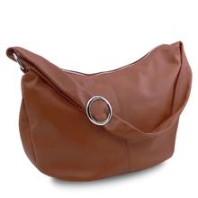 Geanta hobo dama, din piele naturala scortisoara, Tuscany Leather, Yvette