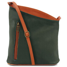 Geanta unisex Tuscany Leather din piele naturala verde inchis, TL Bag