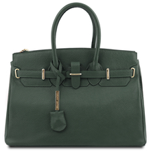 Geanta dama din piele naturala Tuscany Leather, verde inchis, TL Bag