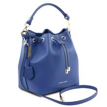 Geanta dama de mana Tuscany Leather din piele naturala albastra Vittoria