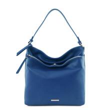 Geanta dama de umar din piele naturala albastra, Tuscany Leather