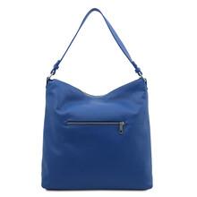 Geanta dama piele naturala albastra, Tuscany Leather