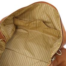 Geanta barbati voiaj din piele naturala Tuscany Leather, Oslo, maro deschis