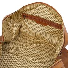 Geanta weekend voiaj din piele naturala Tuscany Leather, Oslo, maro deschis