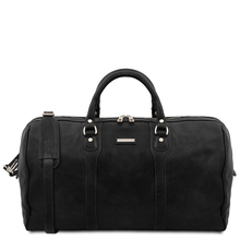Oslo Travel leather duffle bag - Weekender bag Black
