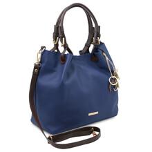 Geanta dama de umar din piele naturala albastru inchis, Tuscany Leather, TL KeyLuck