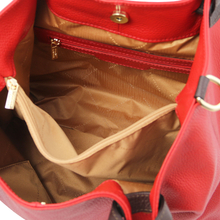 TL KeyLuck Soft leather shopping bag Lipstick Red