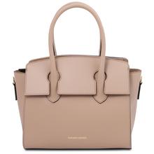 Brigid Leather handbag Champagne