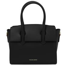 Brigid Leather handbag Black