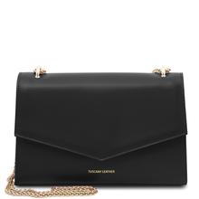 Plic din piele naturala neagra, Tuscany Leather, Fortuna