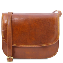 Geanta de umar, din piele naturala honey, Tuscany Leather, Greta