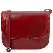 Geanta de umar, din piele naturala rosie, Tuscany Leather, Greta