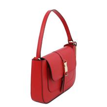 Geanta de mana din piele rosie, Tuscany Leather, Noemi