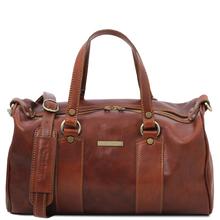 Lucrezia Leather maxi duffle bag Brown