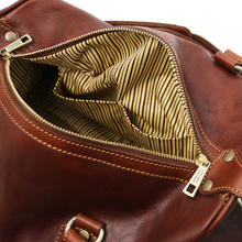 Geanta de mana, din piele naturala maro, Tuscany Leather, Lucrezia