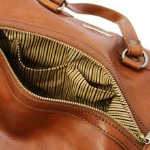 Lucrezia Leather maxi duffle bag Honey