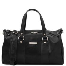 Lucrezia Leather maxi duffle bag Black