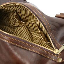 Lucrezia Leather maxi duffle bag Dark Brown