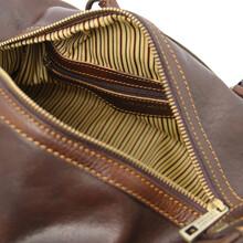 Geanta mana, din piele naturala maro inchis, Tuscany Leather, Lucrezia