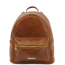 Rucsac dama, din piele naturala honey, Tuscany Leather, Sydney