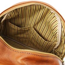 Rucsac dama, din piele naturala honey, Tuscany Leather, Sydney