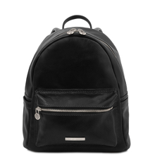 Sydney Leather backpack Black
