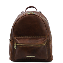 Sydney Leather backpack Dark Brown