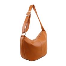 Geanta hobo din piele naturala scortisoara, Tuscany Leather, Yvette