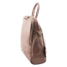 Rucsac dama din piele naturala Tuscany Leather, roz prafuit, TL Bag