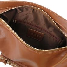 Rucsac dama convertibil in geanta, din piele scortisoara, Tuscany Leather
