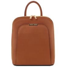 Rucsac dama din piele naturala coniac, Tuscany Leather