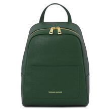 Rucsac mic dama din piele naturala Tuscany Leather, verde