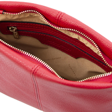 Geanta dama piele naturala dama Tuscany Leather, rosu aprins