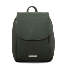 Rucsac de dama, piele naturala verde, Tuscany Leather, TL Bag