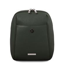 Rucsac de dama, piele naturala verde, TL Bag