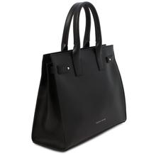 Geanta dama de mana, piele naturala neagra, Tuscany Leather, Catherine Leather