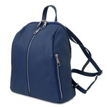 Rucsac dama, din piele nat albastru, Tuscany Leather, TL Bag