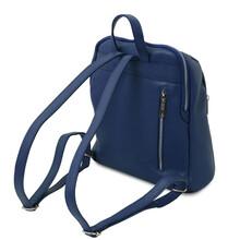 Rucsac de dama, piele naturala albastru, Tuscany Leather, TL Bag