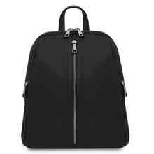 Rucsac dama din piele naturala neagra, Tuscany Leather, TL Bag