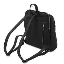 Rucsac de dama, piele naturala neagra, Tuscany Leather, TL Bag