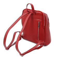 Rucsac de dama, piele naturala rosie, Tuscany Leather, TL Bag