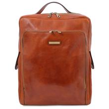 Rucsac laptop din piele naturala honey, marime mare, Tuscany Leather, Bangkok
