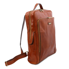 Rucsac laptop piele naturala honey, mare, Tuscany Leather, Bangkok