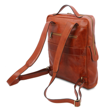 Rucsac mare laptop din piele naturala honey, Tuscany Leather, Bangkok