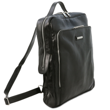 Rucsac pentru laptop piele naturala neagra, marime mare, Tuscany Leather, Bangkok