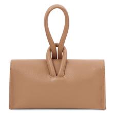 Plic dama de fima din piele sampanie Tuscany Leather